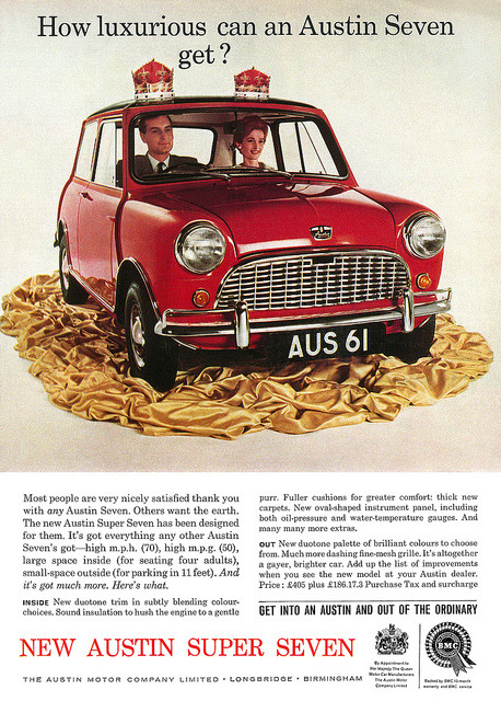 Austin Super Seven advertisement. by totallymystified on Flickr.Austin Super Seven advertisement.