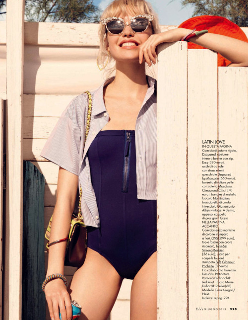 fashion-and-seek:  CORA KEEGAN BY CARLOTTA MANAIGO FOR ELLE ITALIA JUNE 2013