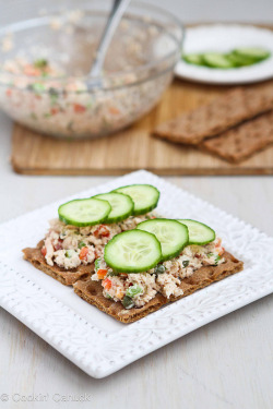 in-my-mouth:  Salmon Salad Sandwich with Capers