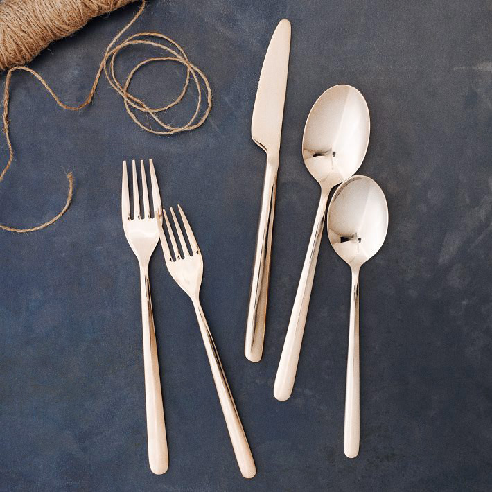 [Rose Gold Flatware by West Elm]