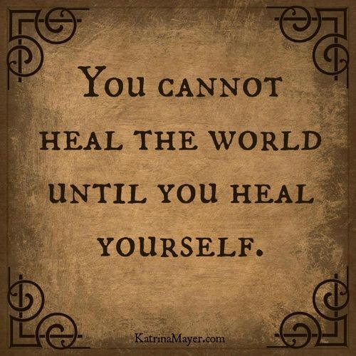 "What kind and ""healing"" thing can you do for yourself today?"