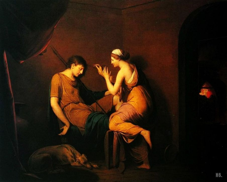 The Corinthian maid. 1784. Joseph Wright of Derby. English. 1734-1797. oil on canvas.       http://hadrian6.tumblr.com