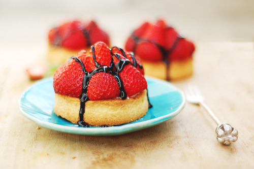 diet-killers:  vegan tarte aux fraise (by the_indigo_blue)