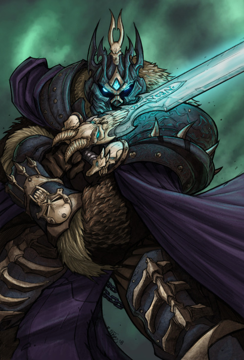 vanillahime:  Wow: Lich King by *grampsart