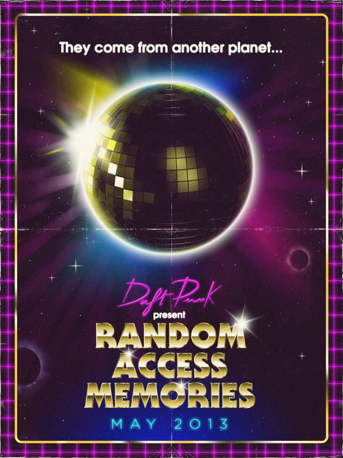 theoverglow:  Poster proposal for 99designs' daft punk contest