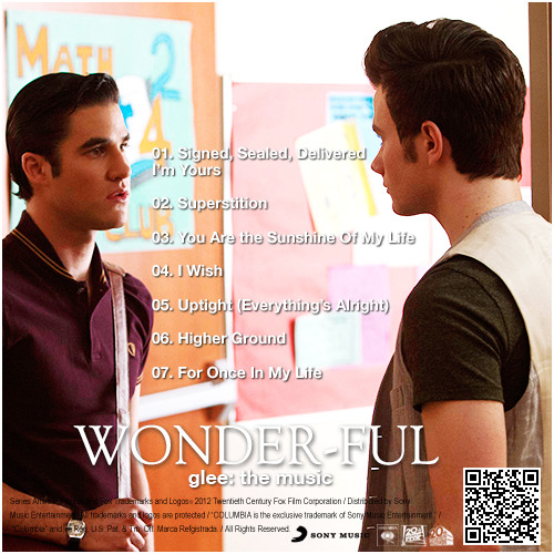 Glee: The Music, Wonder-ful Alternative Album Back Cover
