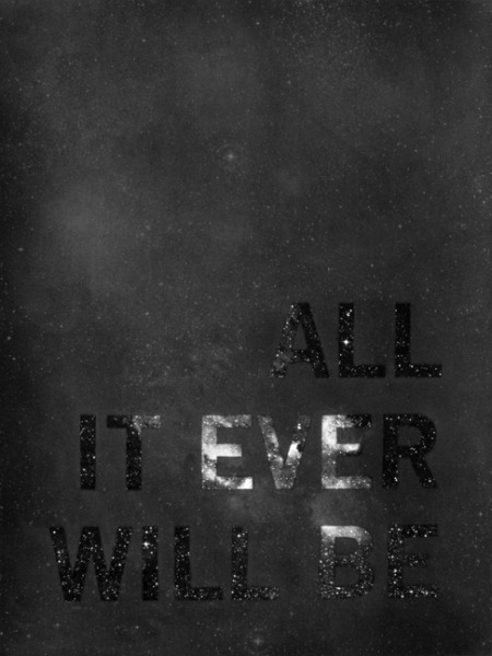 arpeggia:  Cody Trepte - All It Is, And Ever Was, And Ever Will Be, 2010, graphite and diamond powder over silkscreen on paper