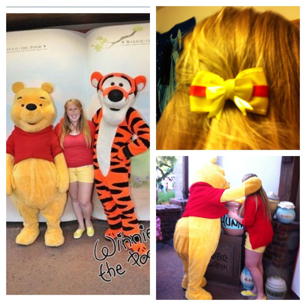 domisdisneybound:  Pooh noticed that we matched and got so excited. He also shared his honey with me  I love this! <3