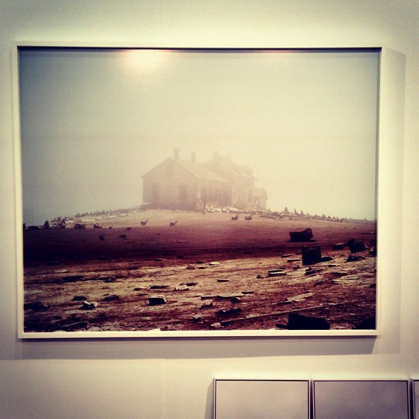 one last post from the armory show. i kept coming back to this image, three or four times, until i finally realised that it was taken at año nuevo state park in california, the abandoned houses by the point that are now occupied by seals and elephant seals. i can't for the life of me remember who photographed this, but it looks like the work of ed panar, though it might possibly be richard misrach as well. don't know. #latergram #armoryshow2013 #edpanar #richardmisrach (at not SxSW)