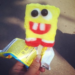SpongeBob SquarePants #popsicle #icecream #noms #summer #nyc #simplepleasures #yum #centralpark #instacool