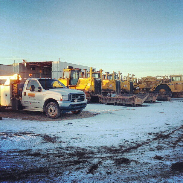 Some heavy equipment ready to be shipped out and some ready to hit the Headwater shop for repair.