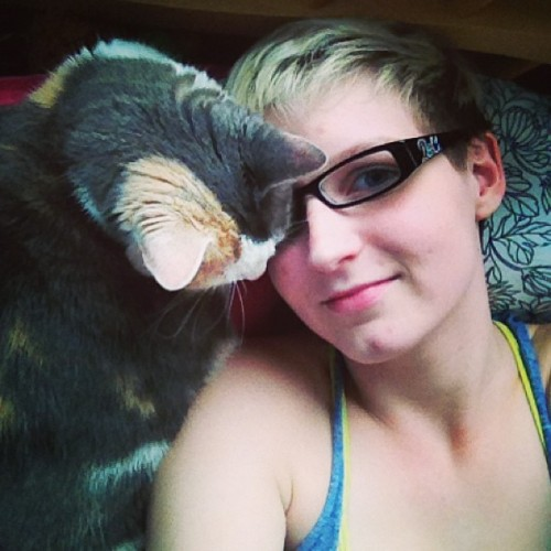 glorialovescats:  Snuggles with my babe <3