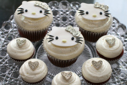 littleladyloves:  Every Little Lady Loves Hello Kitty Cuppycakes