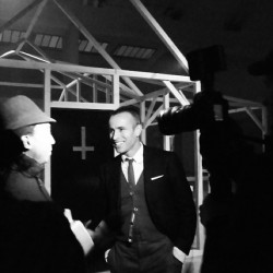 Meet the legend. #thombrowne #pfw #paris #backstage #fashionweek #fashion
