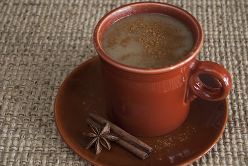 Champurrado (Mexican Hot Chocolate) Source: @MuyBuenoCooking A warm cup of filling sweet and spiced hot chocolate is the perfect pairing to a snowy day.