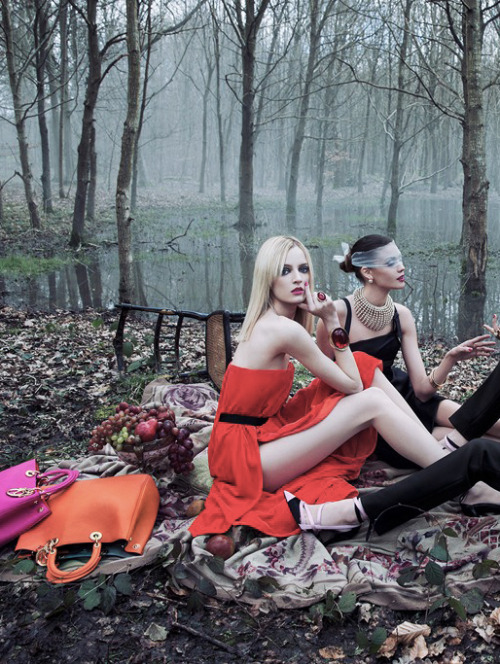 "romanticnaturalism:  Daria Strokous and Diana Moldovan photographed by Inez & Vinoodh for Dior ""Secret Garden 2 - Versailles"""