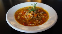 Tuscan white bean and napa cabbage soup. This has been my favorite soup of the winter! Simple, flavorful, healthy. Enjoy! Cafe McLean