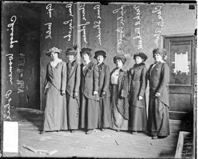 starfishpaws:  Chicago's Police Department's first female officers, 1913 The starting salary of a policewoman in 1913 was $75 a month, and each officer was assigned an area to patrol—often a beach, park, bus terminal, railroad station, or dancehall. Their duties included protecting girls from unsavory types who might lure them into danger and arresting girls for wearing questionable swimming costumes at the local beaches. via Chicago History Museum