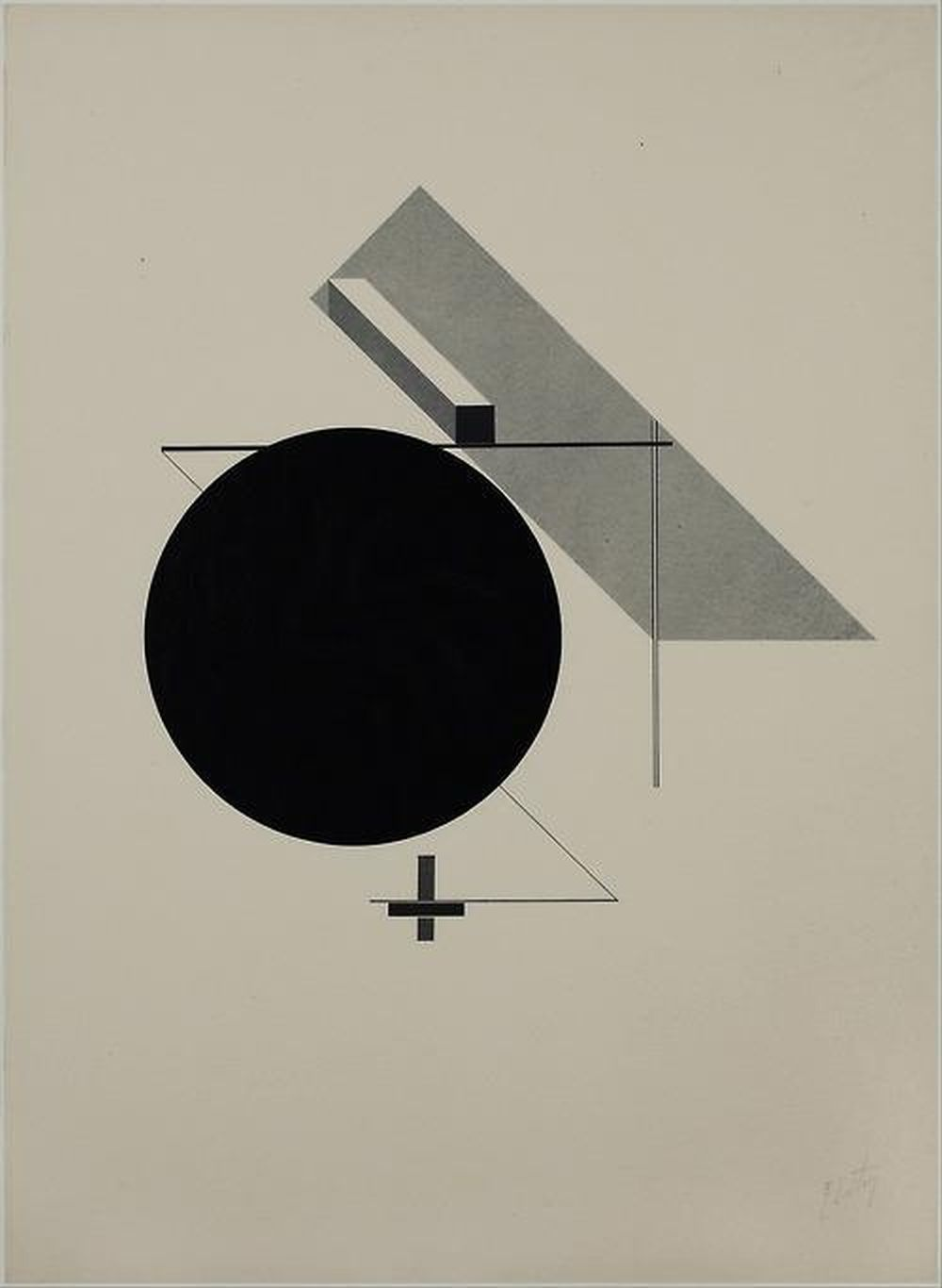 El Lissitzky - Untitled (from 'Proun'), 1919-1923