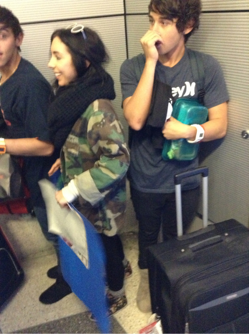 Luke and a little bit of Beau at LAX this morning :)