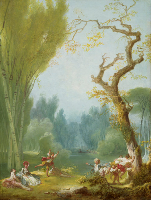 a-l-ancien-regime:  Fragonard, Jean-Honoré French, 1732 - 1806 A Game of Horse and Rider c. 1775/1780 oil on canvas