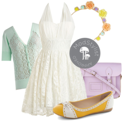 modcloth:  Pastels have got to be my #1 trend for spring/summer. How can anyone resist the dreamy combo of lilac, mint, and pale yellow to create an elegant ensemble? <3 Jess, ModStylist Need styling suggestions, trend tips, or dress details? Ask a ModStylist and your question might be featured on our feed!  Uh, I need that dress. Kthnx.