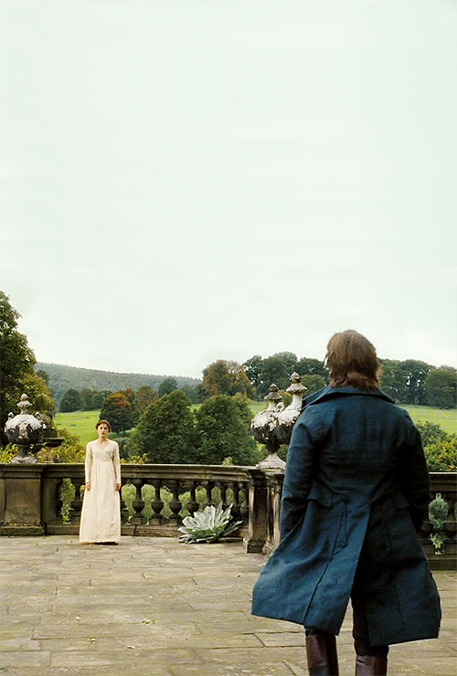 thegreatgracie:  Elizabeth Bennet: I thought you were in London. Mr. Darcy: No… No. I'm not.