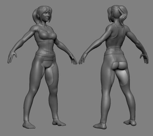 Some more progress. I've been super busy, but she's coming along. Check out Potemkin and Ionen's concept.