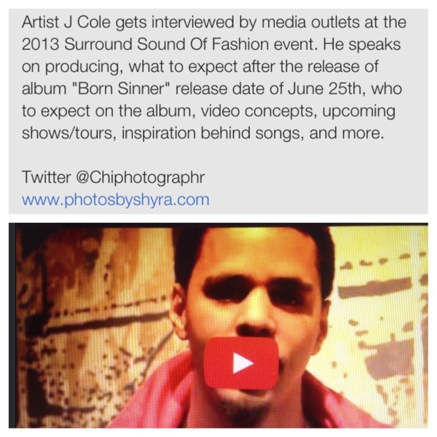 Check out my video of J Cole! Discussing things I'm sure you'll want to hear! #BORNSINNER #JUNE25