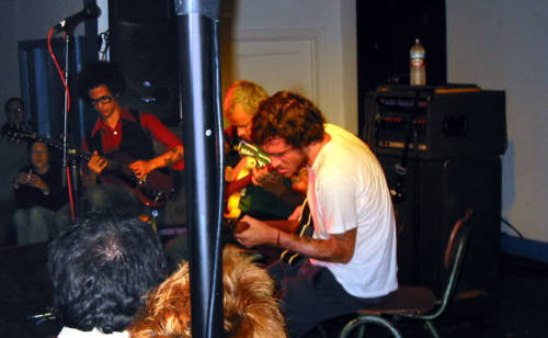 themanofwater:  John and Flea jaming with Omar