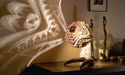 droold:  Calabarte Lamps – Carved From The Calabash Gourd Fruit