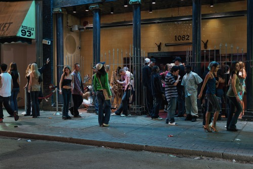 In front of a night club. Jeff Wall, 2006