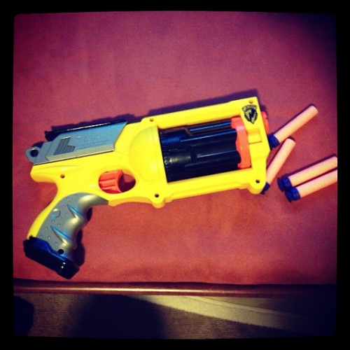 Russian roulette w/ @yuntertainment #we #go #hard #nerf #russian #roulette #bored