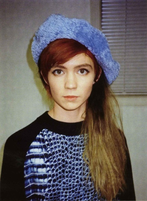 framenoir:  Grimes wears a Chloe Sevigny for Opening Ceremony Beret in Style.com/print's profile of the musician!
