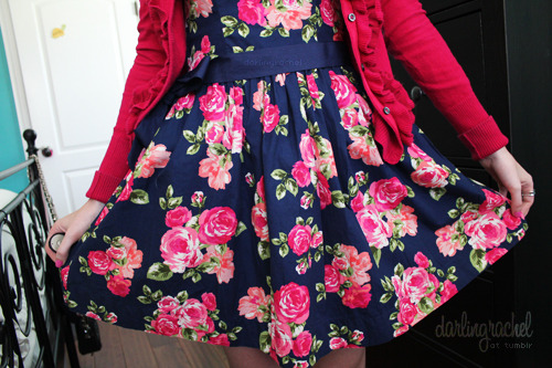 darlingrachel:  one of the dresses I bought yesterday at forever 21 :)
