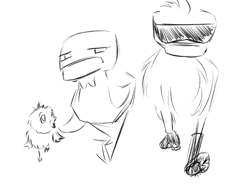 I doodled these guys just before ending the stream tonight. They probably have a story. Have at it. Go nuts. Or bananas, if you prefer.