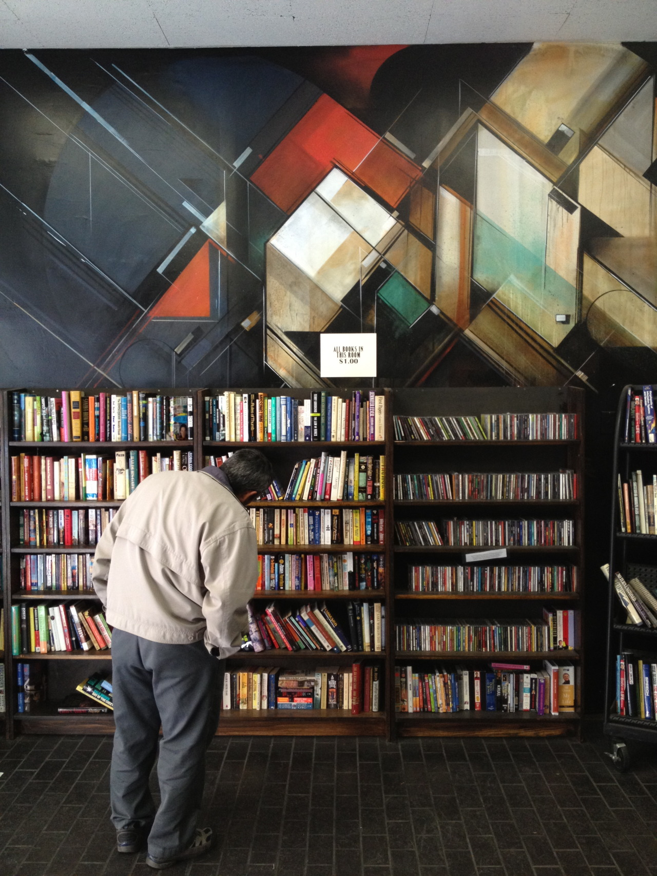 theykeepdrafting:  The Last Bookstore mural | Downtown Los Angeles