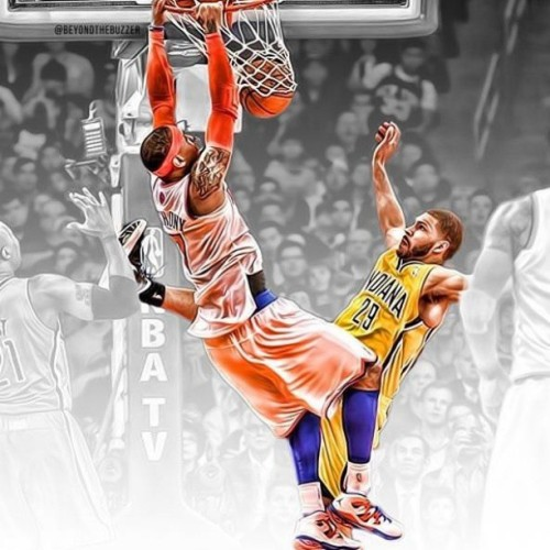 #Posterized!!! #Carmelo #Anthony!!!