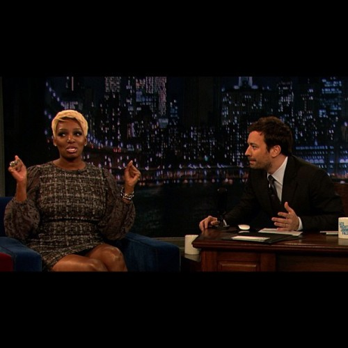 .@neneleakes spills the tea on the show tonight! Oooooo… #LateNight