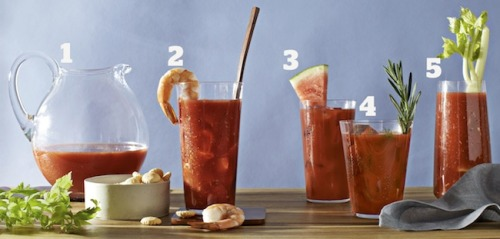 Daily Bite Sip: Bloody Good Bloody Marys! Click here for The Original Bloody Mary recipe + 4 of our favorite variations!