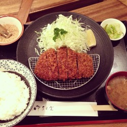 Feels like I'm in #Japan - Udon, sushi, and now #tonkatsu! Special Kurobuta Tonkatsu is tasty, but not $36 good. #hawaii  (at Tonkatsu Ginza Bairin)