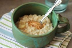 prettybalanced:  Classic Banana Oatmeal with Peanut Butter