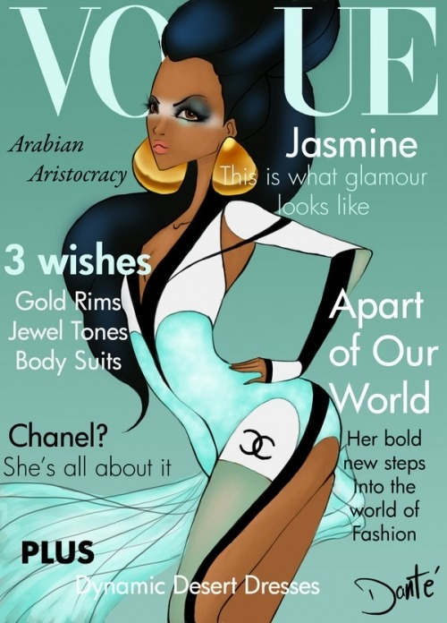 "athomemommy:  Disney Princesses on ""VOGUE COVER"" list on @weheartit.com"