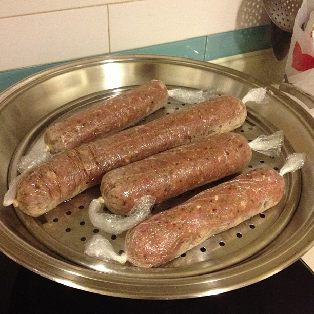 #sausage in the making
