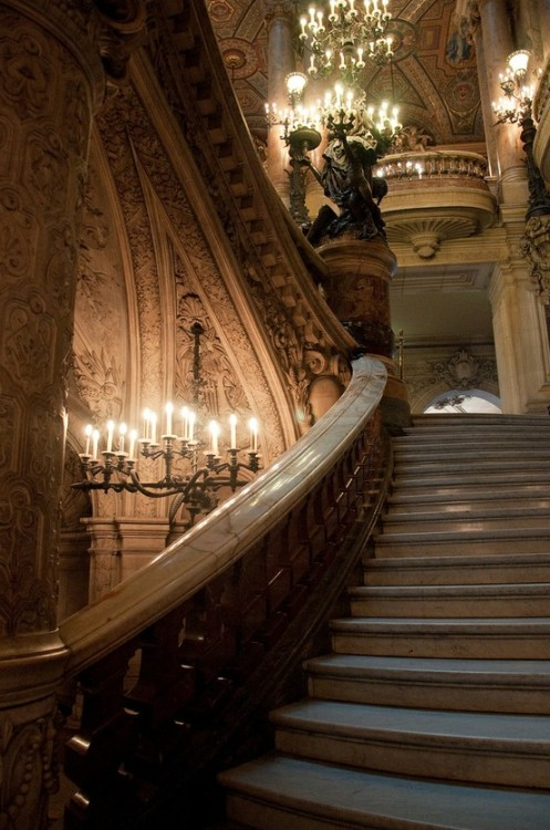 Stairway, Opera House, Paris photo via bernadette