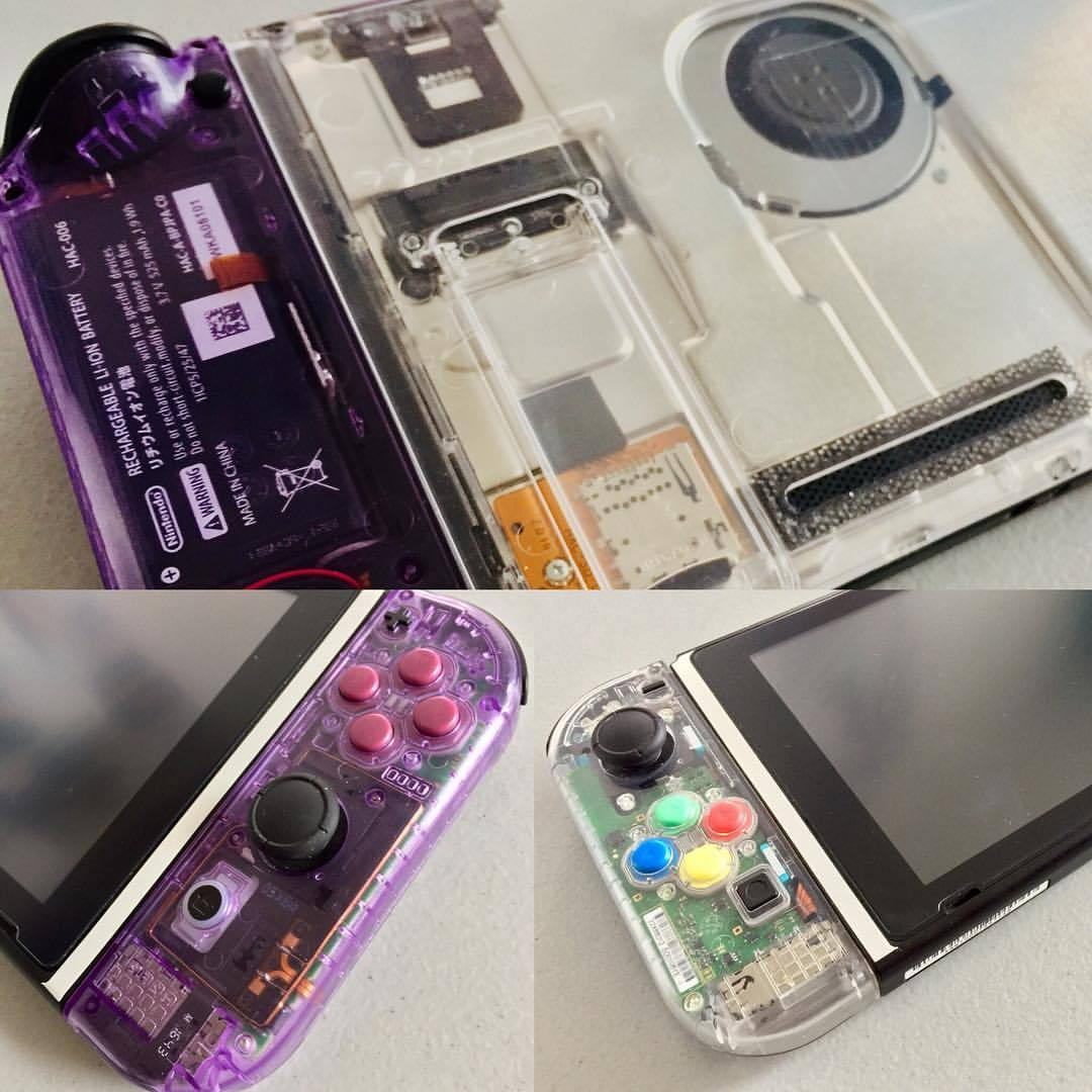 So after thorough testing, these clear shells are just amazing and feel just OEM clear shells of the past! Very durable and really cannot love these enough! I will be doing custom work sometime in the future so definitely keep an eye out! I did mess up one joy-con but that was 100% my fault for not paying attention. Anyways these are amazing and I LOVE the Atomic Purple. Will be doing mix and match colors soon! Blue, orange, purple, clear, red, green, and smoke! All clear colors! If you want to be a beta tester of sorts, hit me up! you will just pay for the supplies. Will be cheaper than the normal!#nintendoswitch #custom #clear #awesome #nintendo #switch #handheld #diy #atomicpurple #retro #gameboycolor #airbrush
