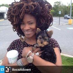 naturalhairdaily:  We love your locs @ilocsitdown! 🙌🙌 #naturalhair #teamnatural #locs  So much hair!!! Gorgeous!!!