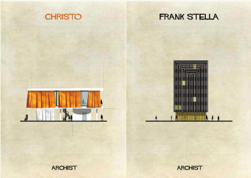 If styles of famous artists became architecture via Lost at E Minor