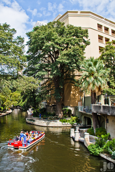 Along The Riverwalk  San Antonio, Texas