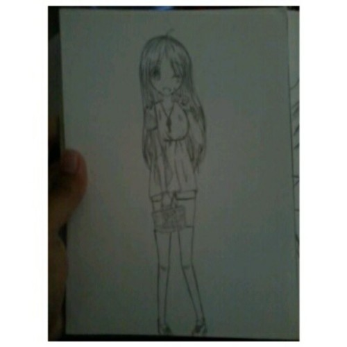 Nemu ginian di sketchbook lama. Wheew moe #girl #draw